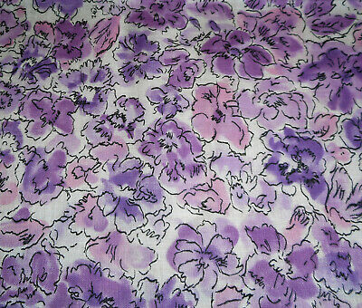 Antique Vintage Lightweight Daisy Floral Batiste Cotton Fabric~pretty pink~1930