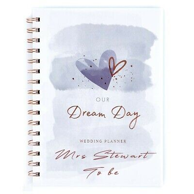 Personalised OUR DREAM DAY Wedding Planner - Organiser - Notebook