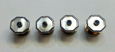 Deakin & Francis  Sterling Silver 925 , Mother Of Pearls , Sapphire Buttons , Se