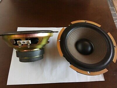 """Pair of 6"""" 6.5"""" 6 Ohm 70W Sony Speaker Woofer Drivers"""