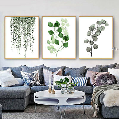 13*18cm Nordic Wall Hanging Plant Leaf Canvas Art Poster Wall Picture Home Decor