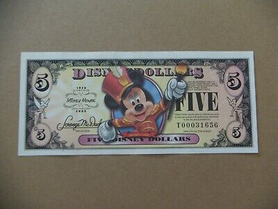 Disney dollar Mickey Mouse $5