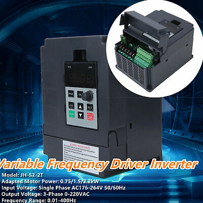 AC220V 2.2kw Single To 3 Phase Motor Variable Frequency Drive Inverter Converter