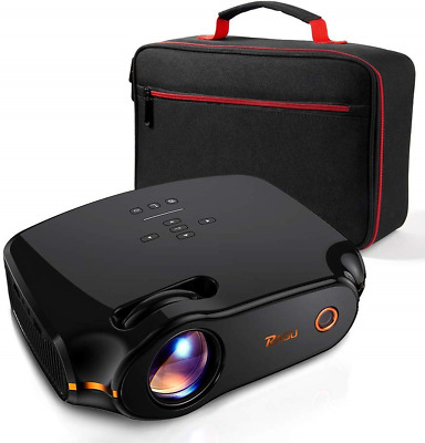 """RAGU Z498 Mini Projector, 2019 Upgraded Full HD 1080P 180"""" Display Supported,"""