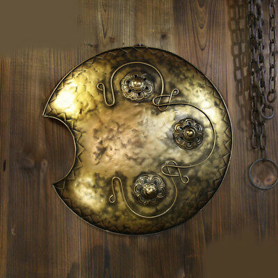 D20 Europe Retro Medieval Shield Antique Knight Armour Wall Home Decor Full Size
