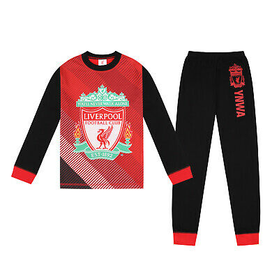 Liverpool FC Official Football Gift Boys Sublimation Long Pyjamas