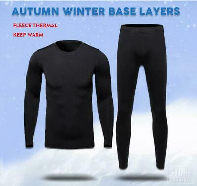 Men's Thermal Underwear Set Top & Bottom Ultra Soft Fleece Lined Long Johns