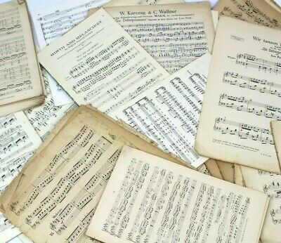 ~~100g OF VINTAGE MUSIC SHEETS - CHRISTMAS CRAFTS. DECOUPAGE CARD MAKING
