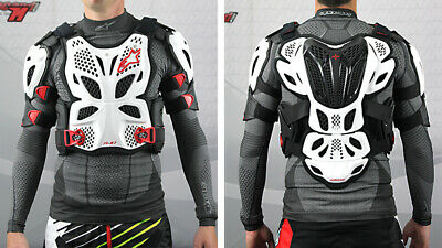 New Alpinestars A10 Full Chest Protector Body Armour White Red Motocross
