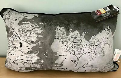 GAME OF THRONES Cushion - MAP OF WESTEROS - Grey & Black - BRAND NEW - PRIMARK