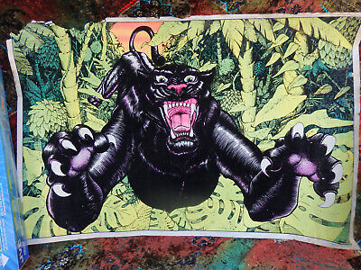 Black Panther Flocked Blacklight 1978 Star City Inc Monarch publicatio 23x35 Vtg