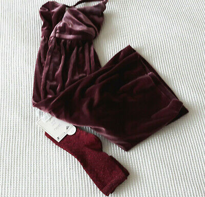 Next Girls Purple Velour Culotte/Jumpsuit Age 3 Years BNWT Tag £18