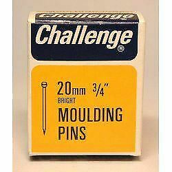 Challenge Moulding Pins (Veneer Pins) - Bright Steel (Box Pack) 20mm