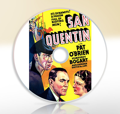 San Quentin (1937) DVD Classic Drama Film / Movie Pat O'Brien Humphrey Bogart