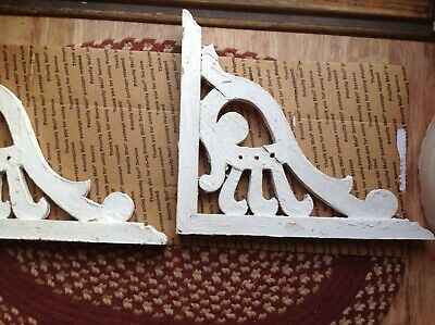 Antique Pair Wood Gingerbread Corbels 1913 FARMHOUSE