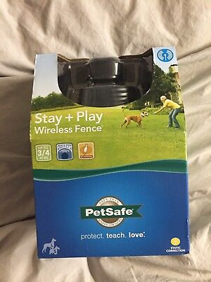 NEW - PetSafe Stay + Play Rechargeable Wireless Dog Fence 3/4 Acre PIF00-12917