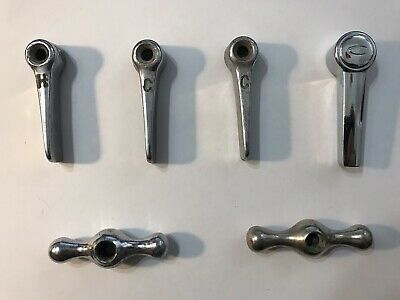 6 Vintage Water Sink Tub Faucet Handles Chrome - PK0