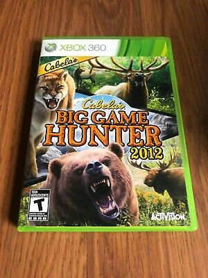 Cabela's Big Game Hunter 2012 (Microsoft Xbox 360, 2011) Complete!