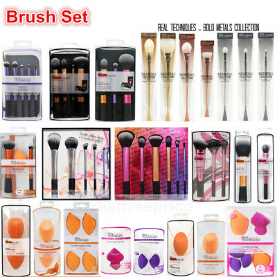Pro Real Techniques Makeup Brushes Powder Set,Makeup Sponge Puff Cosmetic Tools