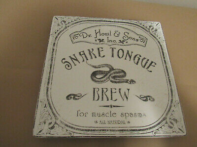 222Fifth Halloween Hallow Apothecary Snake Tongue Brew Square Platter