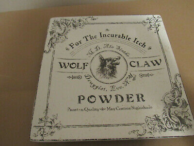 222Fifth Halloween Hallow Apothecary Wolf Claw Powder Square Platter