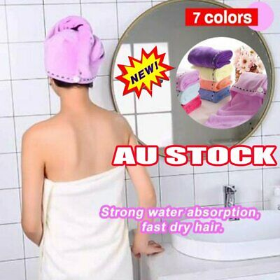 RAPID DRYING HAIR TOWEL Thick Absorbent Shower Cap Fast 2019 DM