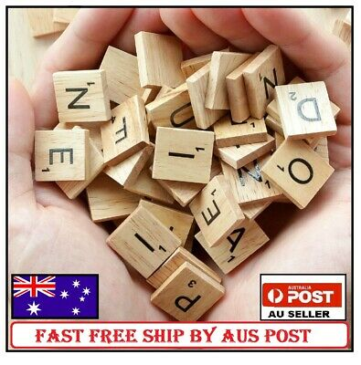200pcs Wooden Letters Alphabet Scrabble Tiles Letters & Numbers For Game &Crafts