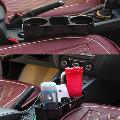 Black Car Cup Drink Holder Seat Gap Mount Storage Box Phone Key Coins Organizer