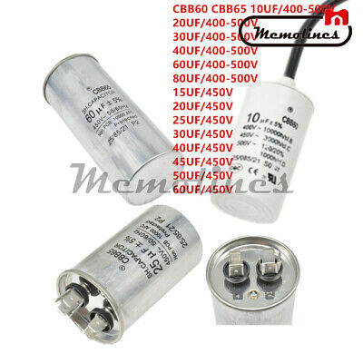 10-80UF 400-500V Run Motor Capacitor Compressor Air conditioning Water Pump
