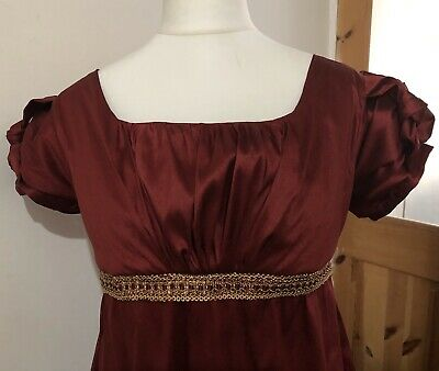 Jane Austen Regency faux Silk Dress, Regency Ball Gown, Made To Measure