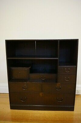 ANTIQUE JAPANESE CABINET, Dark Brown Timber, L=69.5cm,H=74cm,W=28.5cm