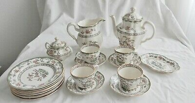 Copeland, Spode, England, teapot, coffeepot and cups, plates