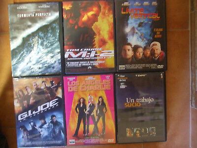 6 Dvd Cine De Accion Intriga Aventura Gijoe Mision Imposible Angeles De Charlie