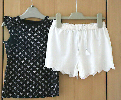 Next Girls Top & Shorts Set Age 2-3 Years BNWT