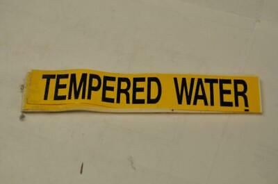(46) Seton Tempered Water Pipe Marker Labels Yellow Steam Punk FAST SHIP! C7
