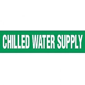 (17) Seton Chilled Water Supply Pipe Marker Labels Green Steam Punk FAST SHIP C7