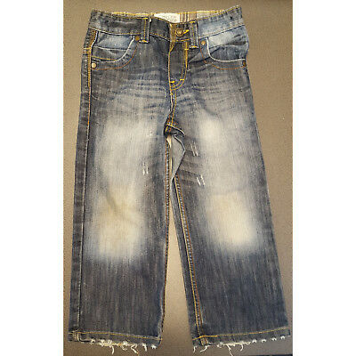 Boys Cherokee Authentic Vintage Fit Blue Faded Distressed Jeans 4-5 Years