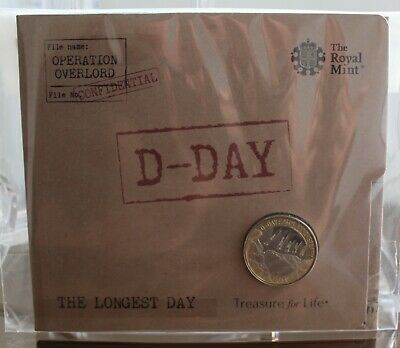 2019 Royal Mint D-Day Landings 75th Anniversary £2 Two Pounds BU BUnc coin pack
