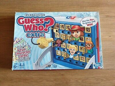 GUESS WHO ? EXTRA Electronic Version With Key by Hasbro Gaming Light & Sound