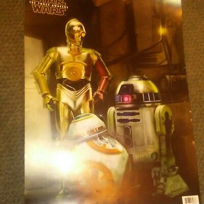 Star Wars Movie Poster Droids The Force Awakens Print Wall Decor 18x24 Trends