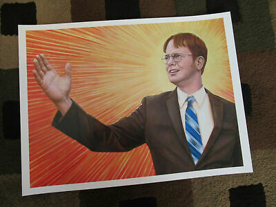 """The Office ( Dwight Schrute Painting) 11"""" x 14.5"""" Collector's Poster Print"""