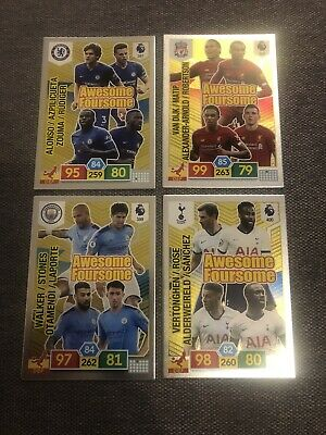Panini Adrenalyn Xl Premier League 2019/20 Set Of Four Awesome Foursome Cards