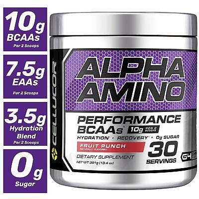 Cellucor Alpha Amino EAA & BCAA Recovery Powder, Fruit Punch, 30 Servings