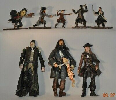 "Pirates of the Carribean 7"" & 3"" Action Figures (8 pcs.)"