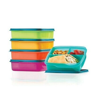Tupperware LUNCH-IT CONTAINERS SET ~ New Colors ~ Set of 5 ~ BRAND NEW!