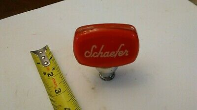 Schaefer Brew NY Beer Vintage Shotgun Mini Draft Tap Handle Knob & 10 Coasters