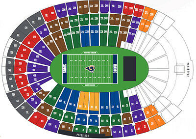 3 La Rams Vs Chicago Bears Tickets 11/17 Sect 327 Row 6