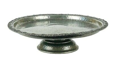 -LIBERTY & Co.- TUDRIC PEWTER TAZZA COMPORT PLATE DISH PEDESTAL STAND No. 01371