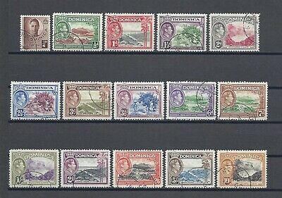 DOMINICA 1940-42 SG 99/109A USED Cat £65