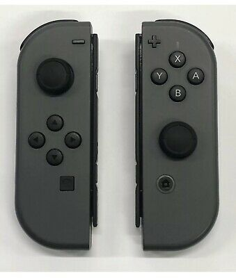 Nintendo Switch Joy Con Controllers Gray Free Shipping!